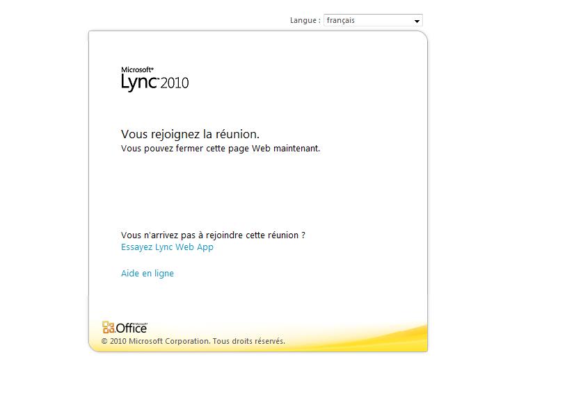 Connection Webinar via Lync Web App - EN Ikoula wiki