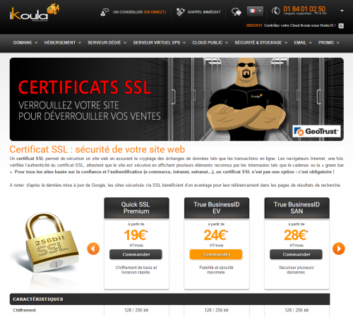 How to order or renew an SSL certificate - EN Ikoula wiki